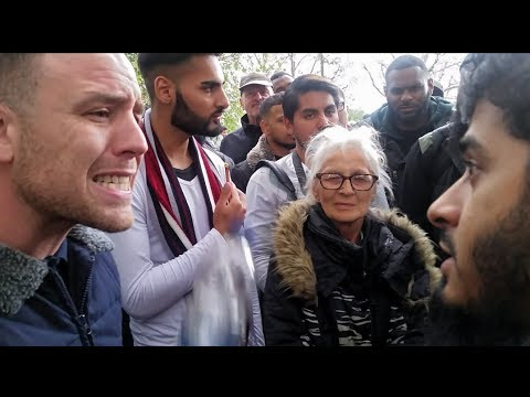 Hamza Tells (Tommy Supporter?) To Condamn All Types Of Grooming/Speaker Corner 2018 New
