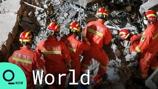 Firefighters Pay Respects to Victims of Deadly Hotel Callapse in China