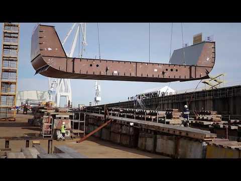NAVANTIA Ferrol: Puesta de quilla del primer AOR para Royal Australian Navy