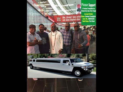 Amb.Dion Osagie welcome in Austral in a grand style and a Limousine.