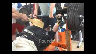 950 Pound Bench Press | Mike Womack | Kingdom Power Gym 5/5/2012
