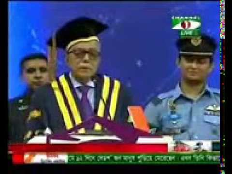 Funny Speech of BD President at NUB convocation 2015