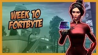 SEASON 9, Week 10 *SECRET* Fortbyte Location! - Fortnite Battle Royale