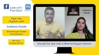 FB Live with PeerSpot: Sadhana Pandit on Bharatnatyam