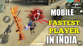 Free Fire | Fastest Mobile Player In India FreeFire-Arpan Gaming