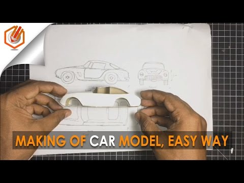 architecture MODEL MAKING OF CAR l simple trick, using cardbord