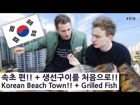 속초 편!! + 한국 생선구이를 처음으로 먹어본 미국 모델!! (316/365) Korean Beach Town!! + Grilled Fish Mukbang