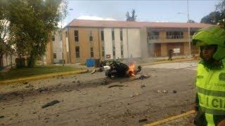Las imágenes de la explosión al interior de la Escuela de Policía de Bogotá