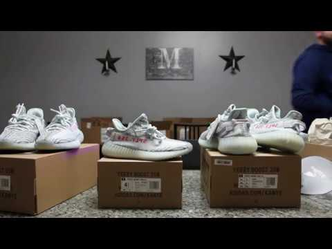 Yeezy Boost 350 V2 Blue Tint Adidas/Yeezy Supply Comparison/Review & Blacklight