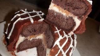 Eggless Ice Cream Cake By Bhavna