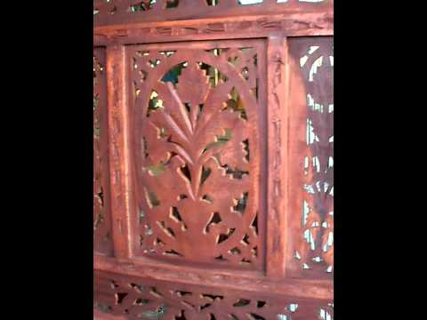 #1 Room Divider, Original Indian Hand Carved Wood Screens
