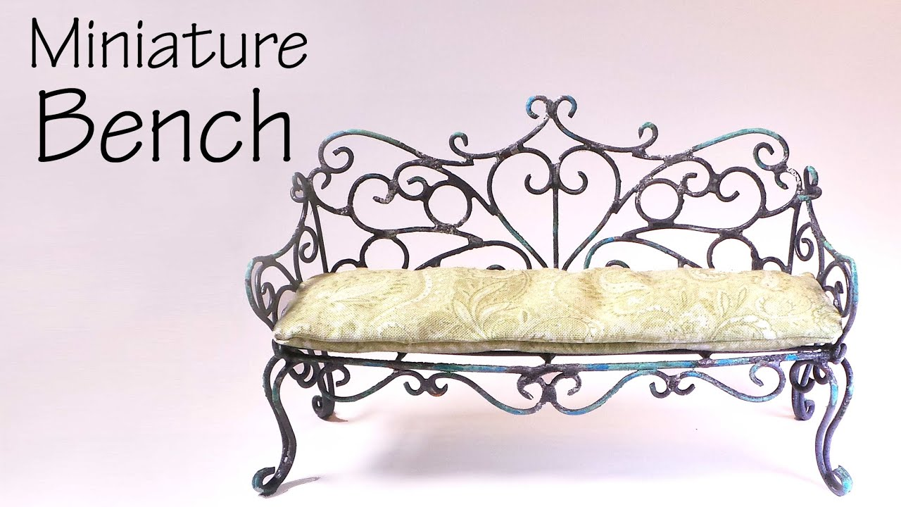 Miniature Furniture; Vintage/Romantic Bench Tutorial   Dolls/Dollhouse    YouTube