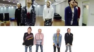shinee everybody 2x comparison   dance practise v  weekly idol
