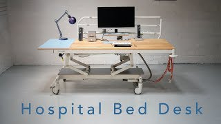 Making a Motorised Desk from an Old Hospital Bed - Full Making Video