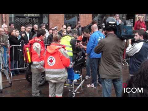 La sécurité sur le Marathon de Toulouse. Matériel de communication radio ICOM.