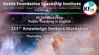 211th Knowledge Seekers Workshop  Feb 15 2018