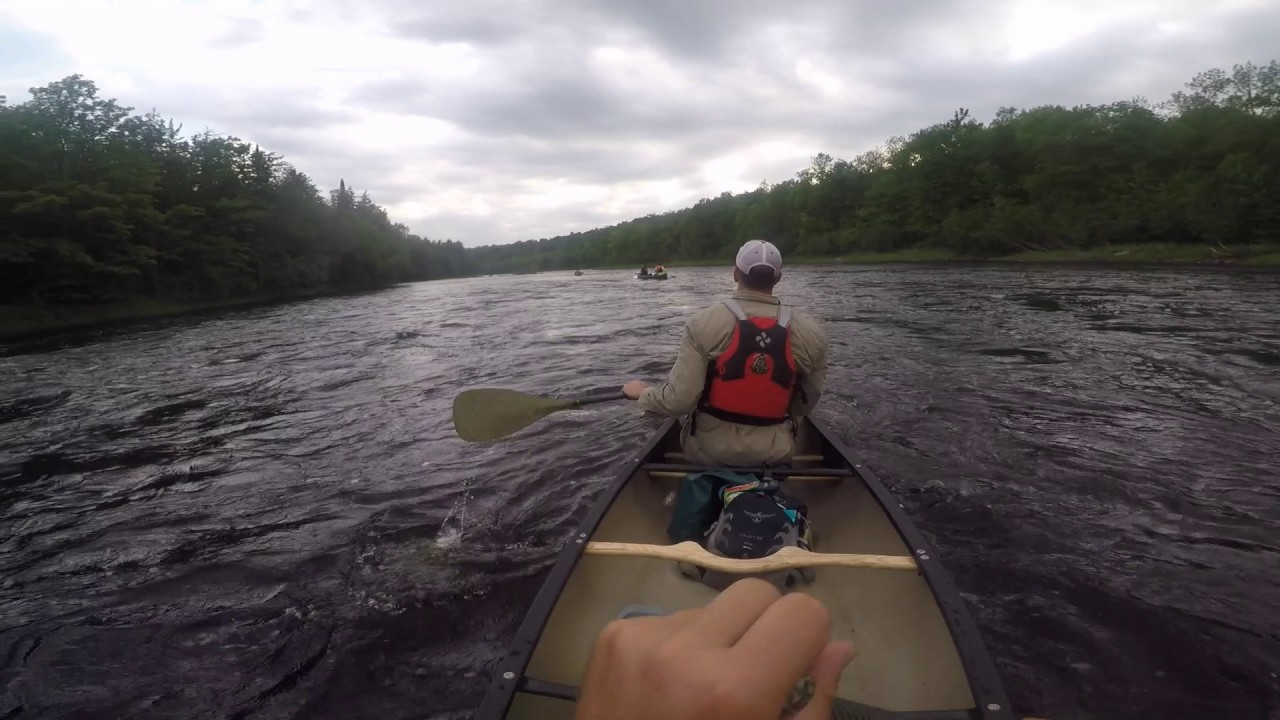 Flambeau River whitewater paddling adventure in northern Wisconsin