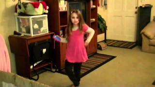Kaitlyn dancing to Christmas ringtones