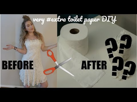 MAKING TOILET PAPER OUT OF A WEDDING DRESS