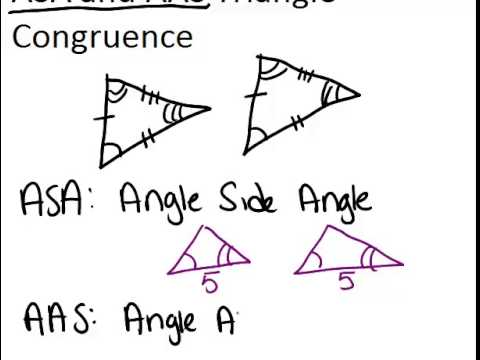 ASA and AAS Triangle Congruence: Lesson (Geometry Concepts