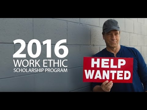 mikeroweWORKS Foundation's 2016 Work Ethic Scholarship Program