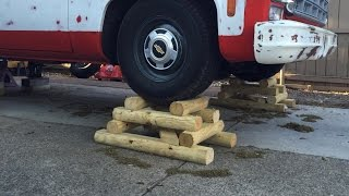 SIMPLE WOODEN WHEEL LIFTS | Cheap & Easy vehicle support!