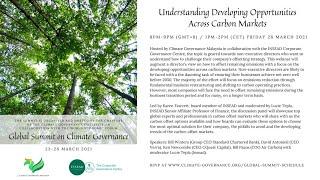 Global Summit: Understanding Developing Opportunities Across Carbon Markets
