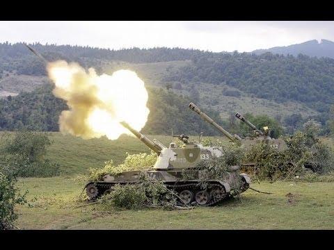 Как ебашит самоходная гаубица 152-мм 2С3 Акация и 2С1  Гвоздика