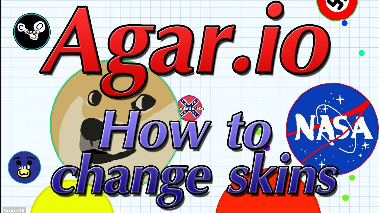 How to change skins in Agar.io - Agario - YouTube