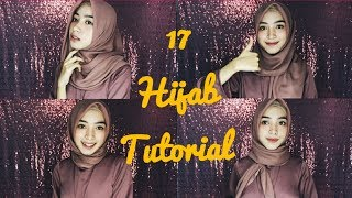 Tutorial 17 Simpel Hijab Segi Empat Sehari Hari