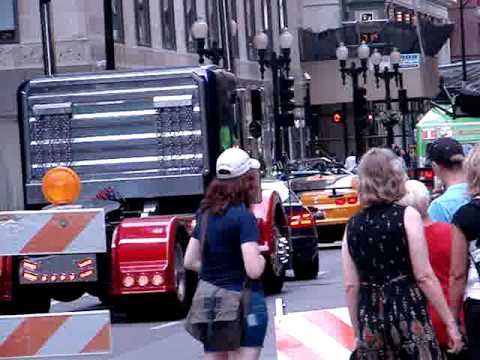 Transformers 3 Chicago - Autobots between takes (pt 1)