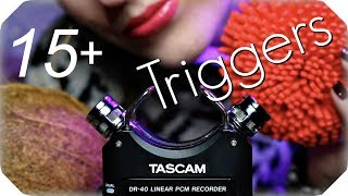 ASMR 15  TASCAM Triggers for Sleep, Tingles & Study (NO TALK...