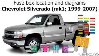 fuse box location and diagrams: chevrolet silverado (mk1; 1999-2007) -  youtube  youtube
