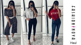 fashion nova try on haul مشترياتي من فاشن نوفا  بيرلا سيباني