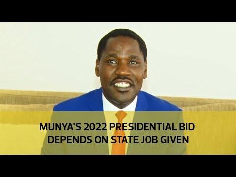 Munya's 2022 presidential bid depends on State job given