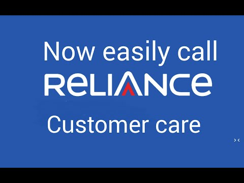 A number  for  Relience customer care in this video