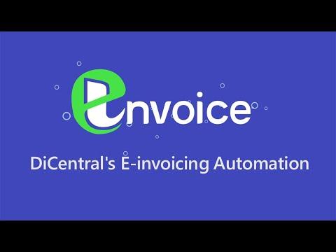 E-Invoice:  DiCentral's E-invoicing Automation
