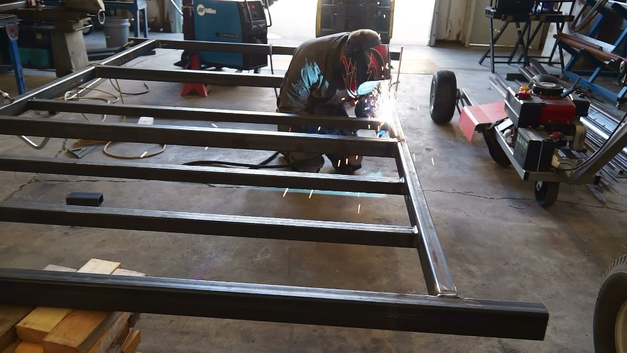 Camper Trailer Build #1, Welding The Frame - YouTube