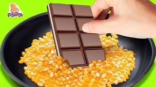 Trying FOOD from 30 SIMPLY DELICIOUS DESSERTS 5-Minute Crafts Video - FOOD LIFE HACKS Challenge