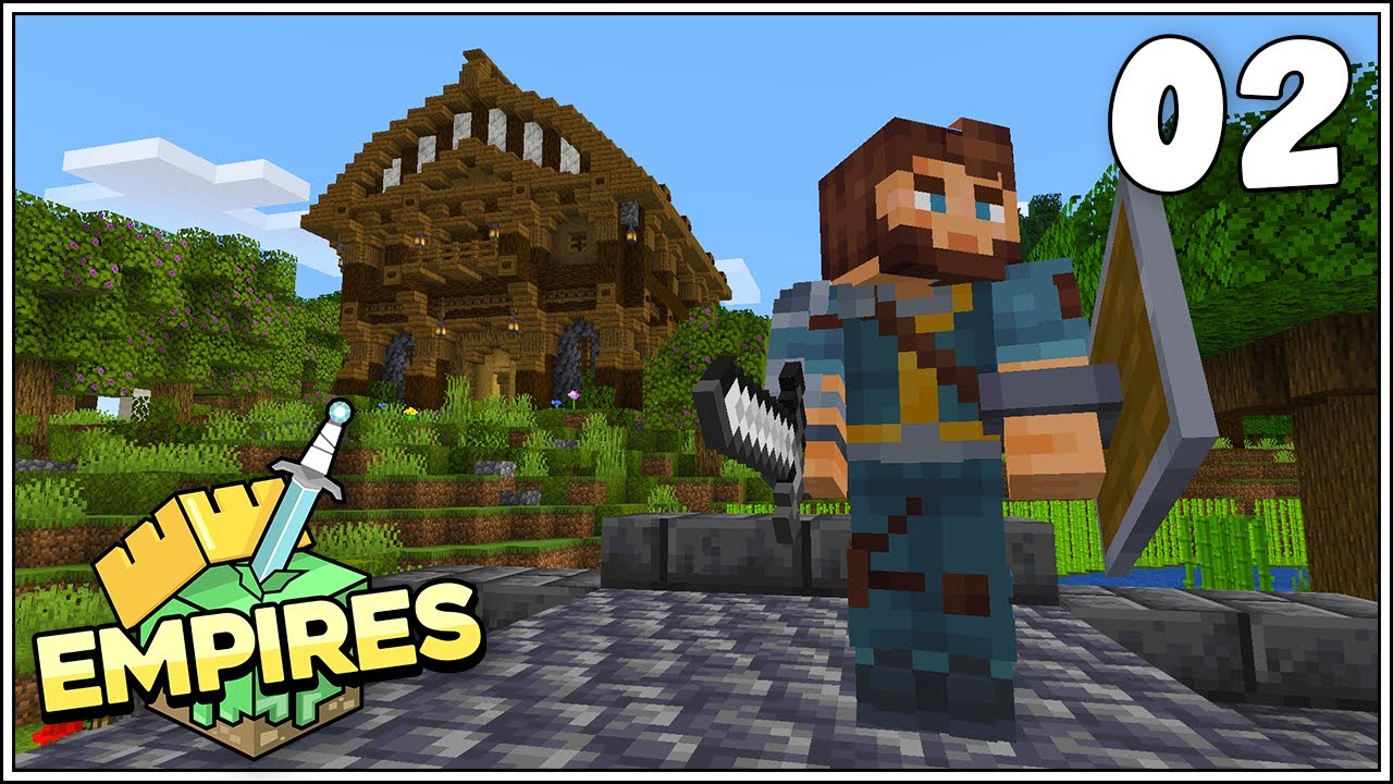 Empires SMP - Librarian Villager Trading Hall!!! - Ep.2 [Minecraft 1.17 Survival Lets Play]