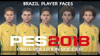 PES 2018 BRAZIL Player Faces Ratings Online Beta
