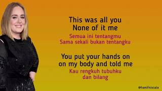 Adele - Send My Love To Your New Lover | Lirik Terjemahan
