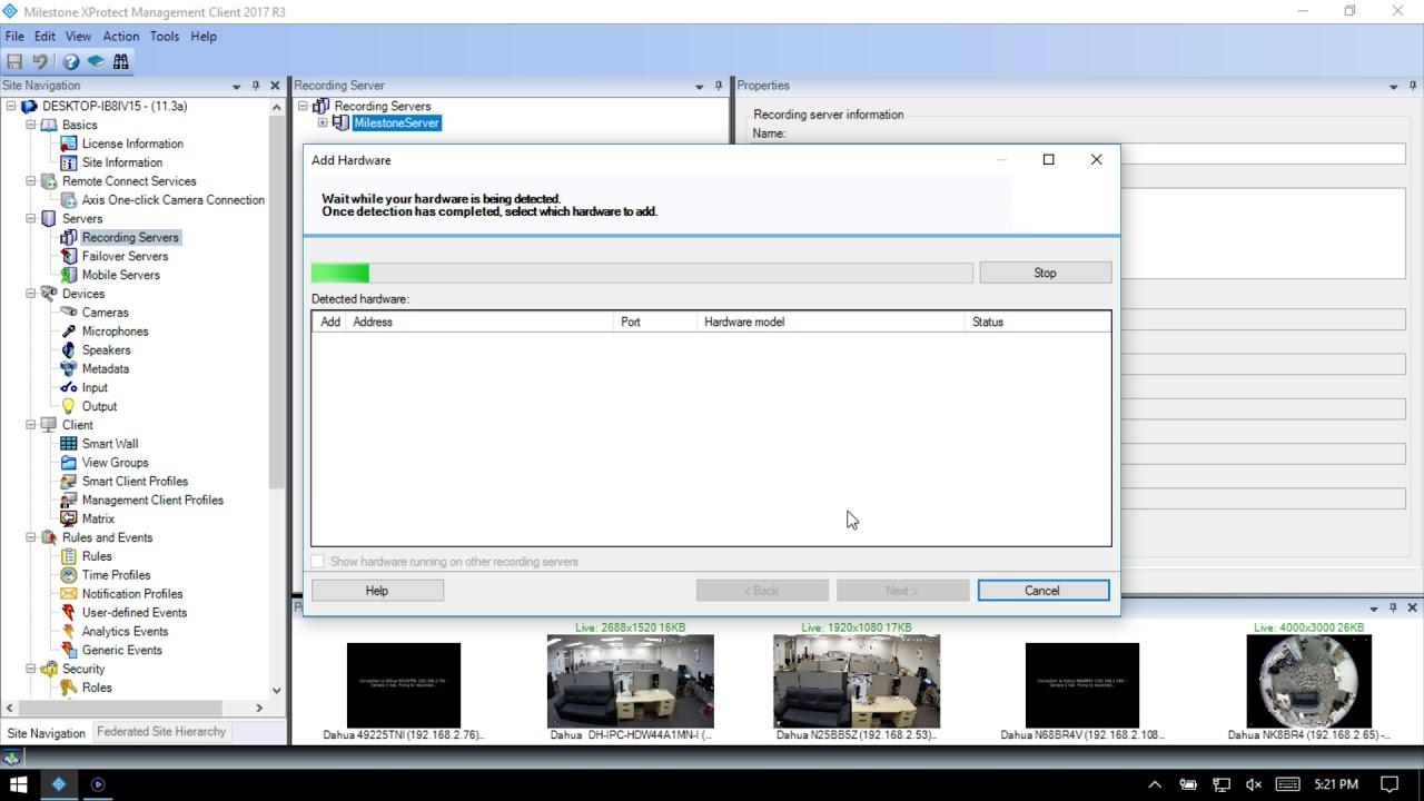 3rd Party VMS/Milestone/Add Dahua Recorder To Milestone - Dahua Wiki