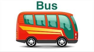 Drawing transport: Train, Bus, Tram, Tractor, Truck and Car. Learning TV for kids