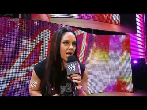 Smackdown Aj Lee(c) vs Natalya (Kaitlyn Dressed As Aj) 28.06.2013