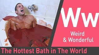 Jumping into a Hot Sauce Bath in the Name of Science | You Have Been Warned
