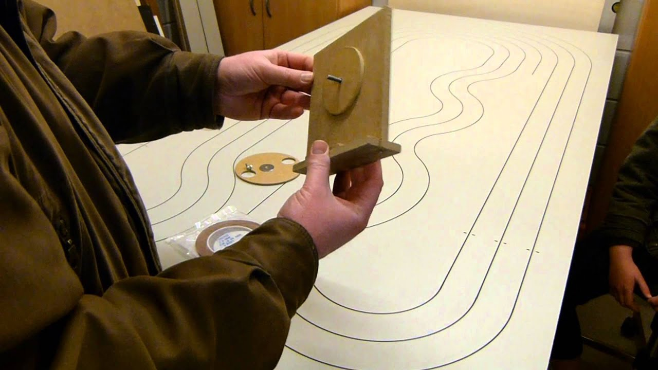 Make Your Own Ho Routed Copper Tape Slot Car Track Youtube