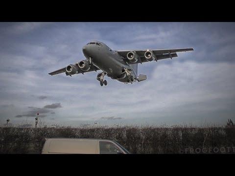 Royal Air Force | British Aerospace 146-200 [ZE708] landing at RAF Northolt