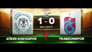 Atiker Konyaspor 1-0 Trabzonspor   Maç Özeti HD   a spor