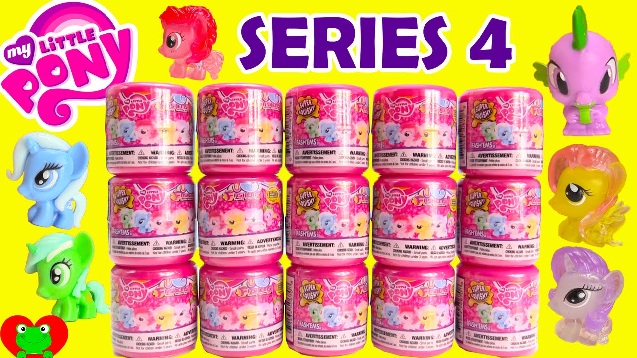 My Little Pony Fashems Series 4 Crystal Ponies Youtube